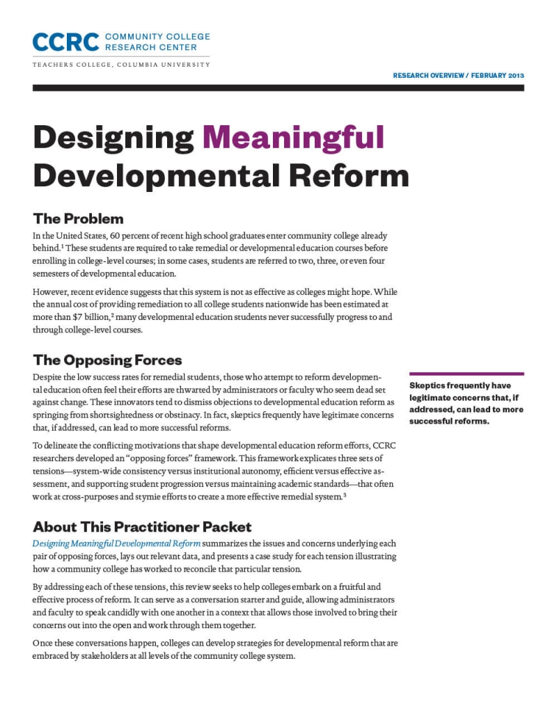 Designing Meaningful Development Reform