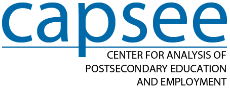 CAPSEE: Center for the Analysis of Postsecondary Education and Employment logo