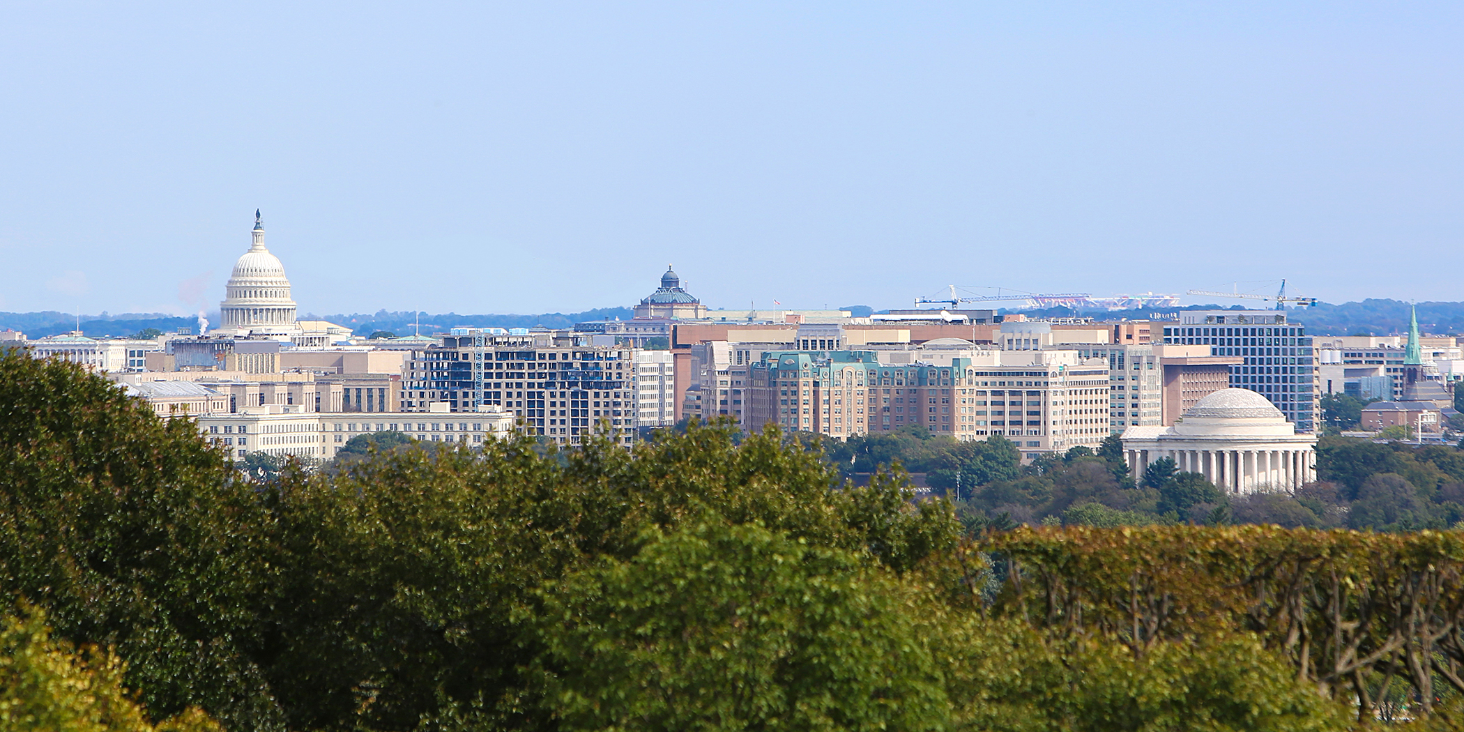 The Washington DC skyline