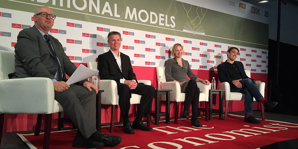 Shanna Smith Jaggars Speaks on Disrupting Traditional Models of Education at The Economist's Higher Education Forum