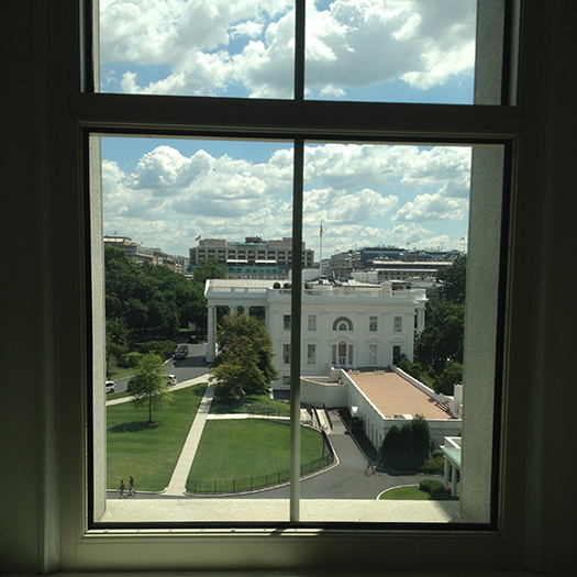 The view of the White House from Jordan Matsudaira's desk
