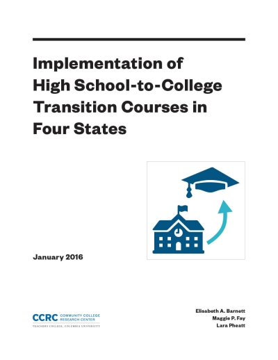 Implementation of High School-to-College Transition Courses in Four States