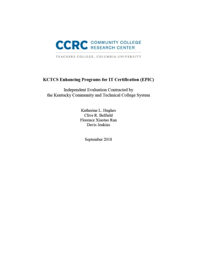 KCTCS Enhancing Programs for IT Certification (EPIC)