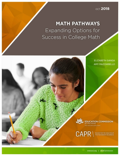Math Pathways: Expanding Options for Success in College Math
