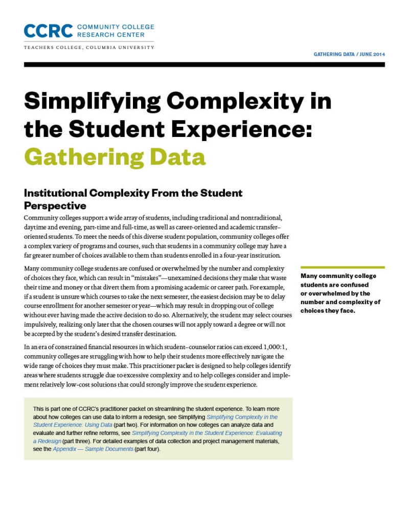 Simplifying Complexity in the Student Experience