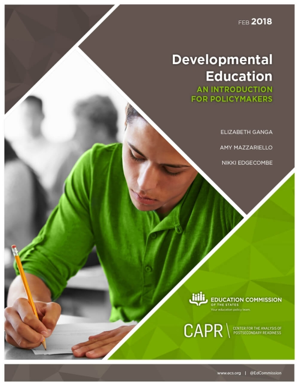 Developmental Education: An Introduction for Policymakers
