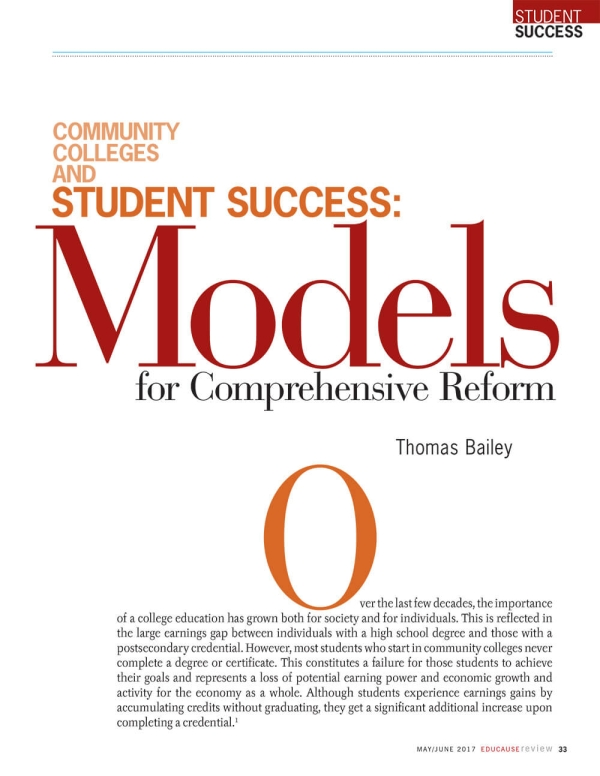 The Need for Comprehensive Reform: From Access to Completion
