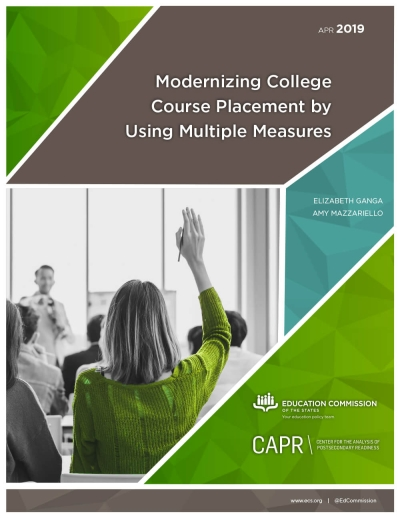 Modernizing College Course Placement by Using Multiple Measures