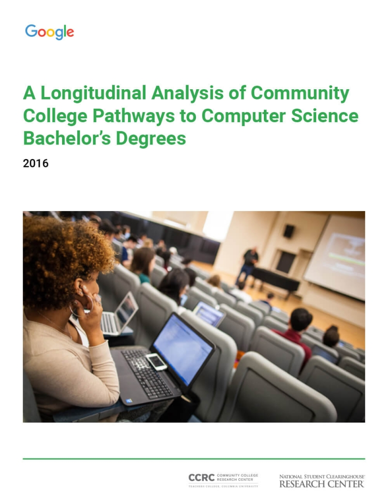 A Longitudinal Analysis of Community College Pathways to Computer Science Bachelor's Degrees