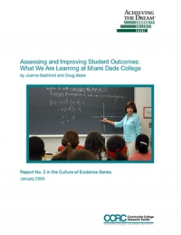 Assessing and Improving Student Outcomes: What We Are