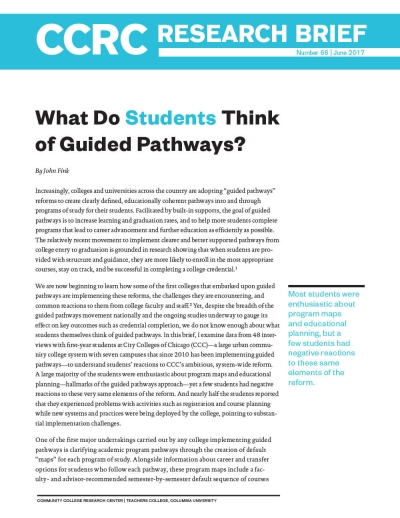 What Do Students Think of Guided Pathways?